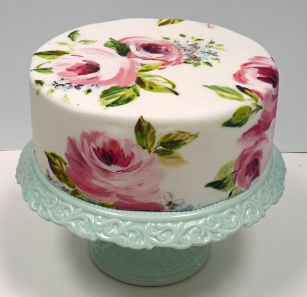 Vintage Fondant Cake Design : bolo decorado Limao Flor
